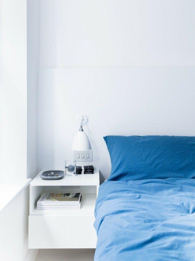 blau-farbe-bettwasche