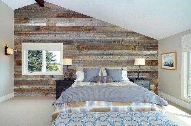 Charmant Dachschrage Schlafzimmer Wandpaneele Holzbretter