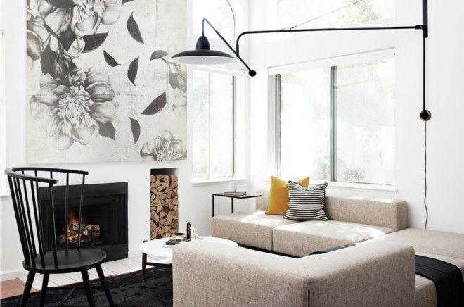 design-skandinavisch-wohnzimmer-einrichten-sessel-kamin-wand-deko
