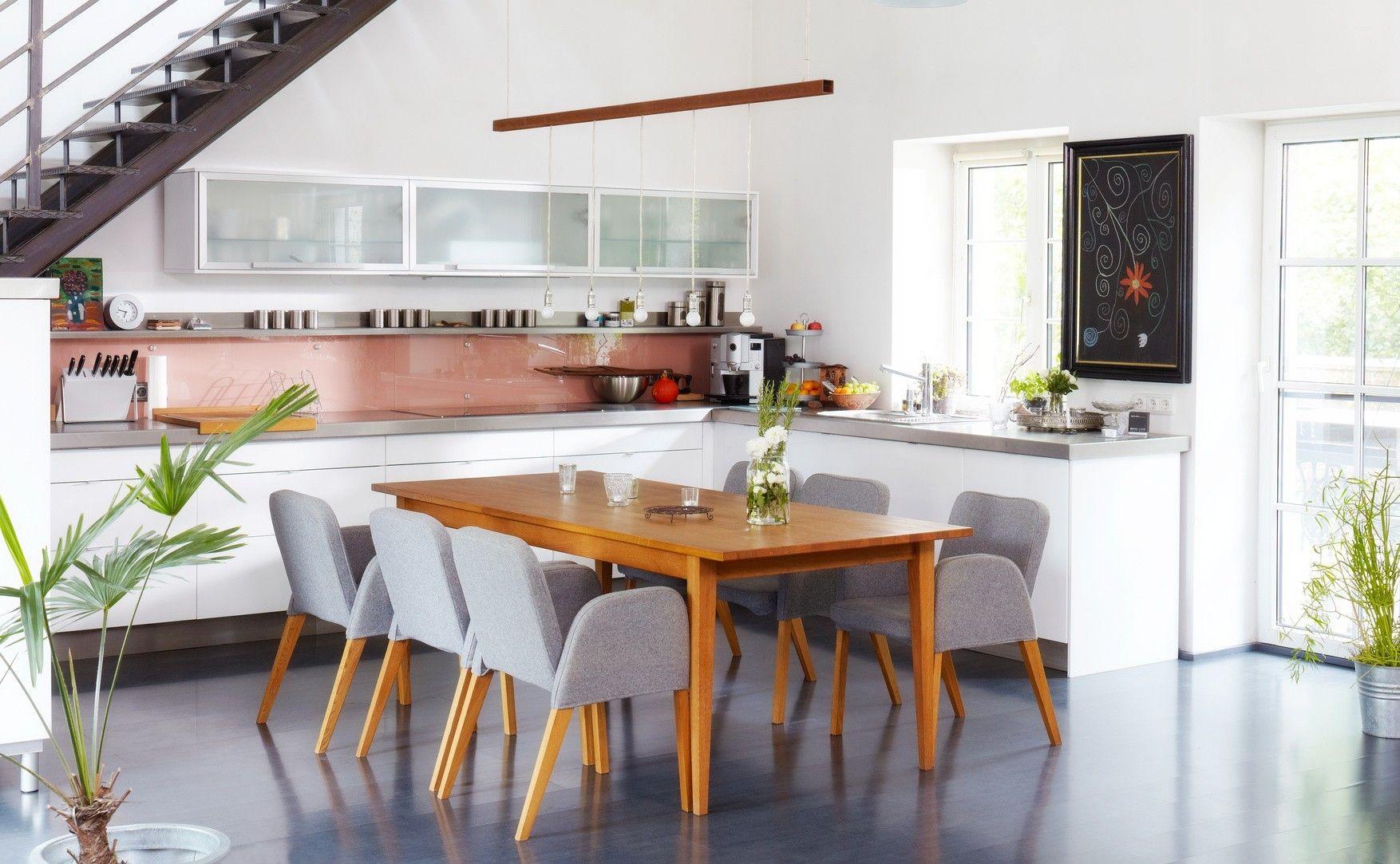 eine offene k che verbindet kochen und essen wohnen und. Black Bedroom Furniture Sets. Home Design Ideas