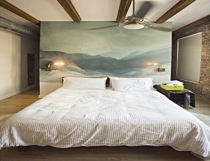 Fotowand Kopfteil Ideen Schlafzimmer