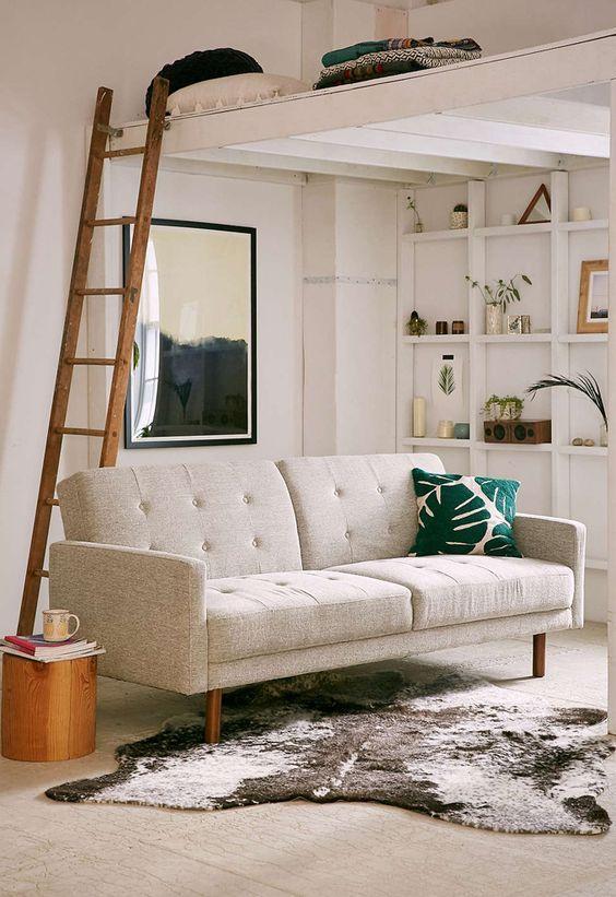 Hochbetten f r gro und klein aber immer f r echte for Couch unter hochbett