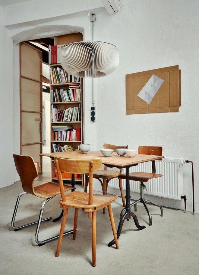 ideen-fur-mittelgrose-industrial-esszimmer-und-betonboden