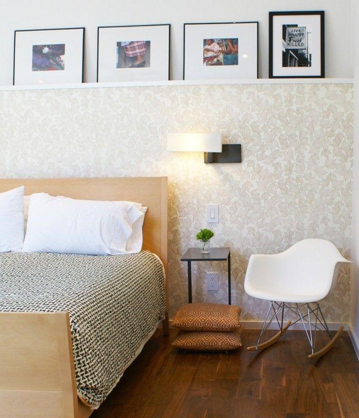 ideen-fur-wandgestaltung-mustertapete-im-schlafzimmer