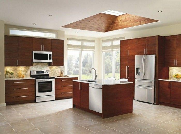 kuchenschranke-braun-skylight-dachfenster-kucheninsel
