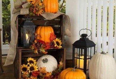 Klassische Deko-ideen Für Ihren Hauseingang, Die Sie Festlich Auf ... Dekoration Fur Den Herbst Ideen