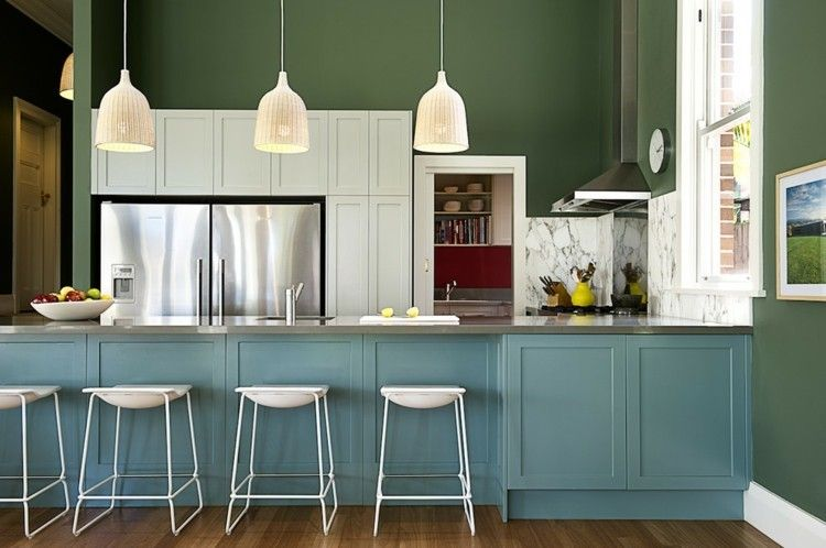 Wandgestaltung in der Küche: Ideen mit Farben - Trendomat.com