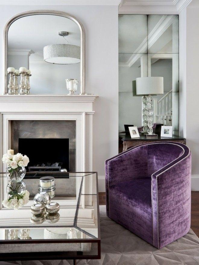 luxus-ideen-wohnzimmer-spiegelwand