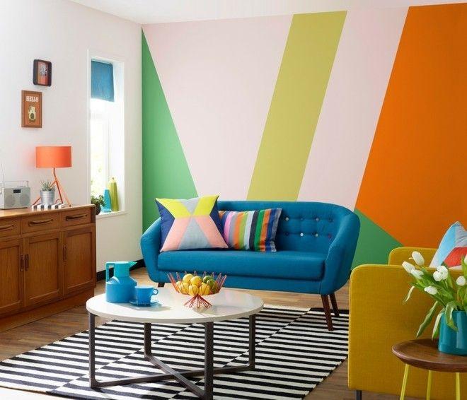 modern-ideen-blau-weis-streifen-teppich-schwarz
