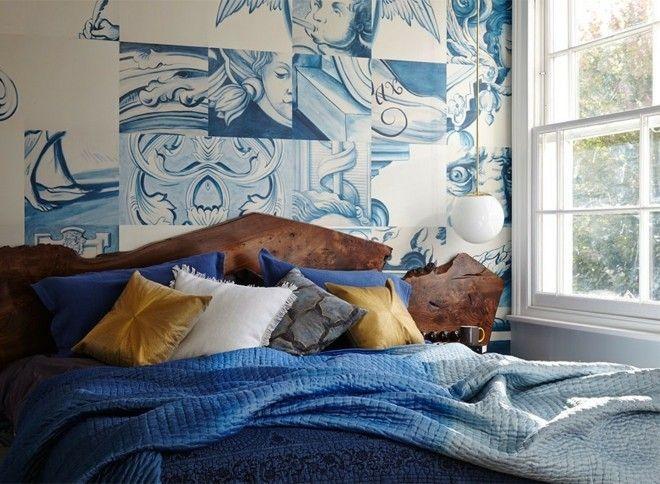 ombre-stil-tiefblau-bettwasche