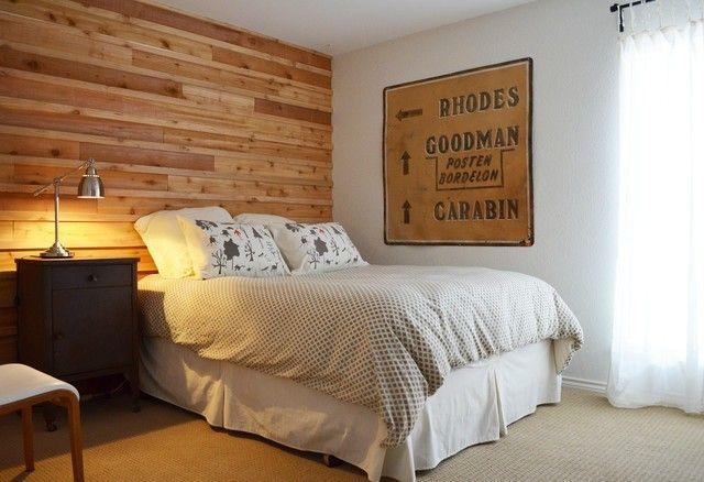 inspirierende Schlafzimmer mit Wandpaneelen aus Holz  Trendomat com