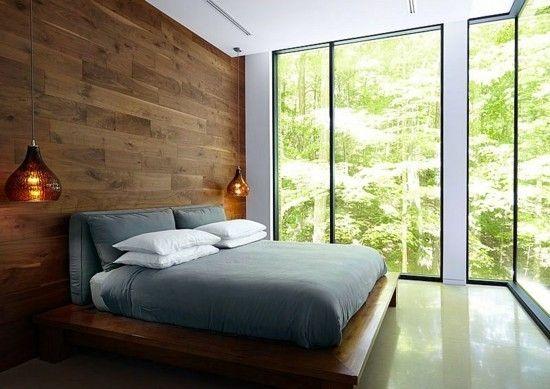 schlafzimmer wandverkleidung holz designer lampen wohntipps resized - Designer Schlafzimmer