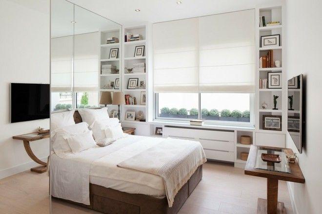 schlafzimmer-gestalten-mit-spiegelwand-ideen