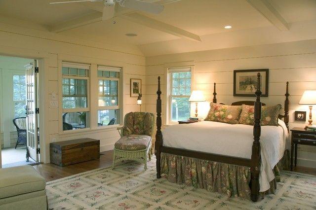 schlafzimmer-im-klassischen-stil-holzbretter-wandpaneele