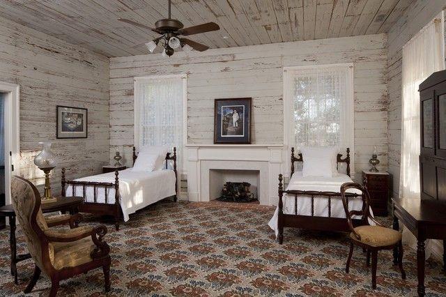 schlafzimmer-rustik-wandpaneele-retro-optik
