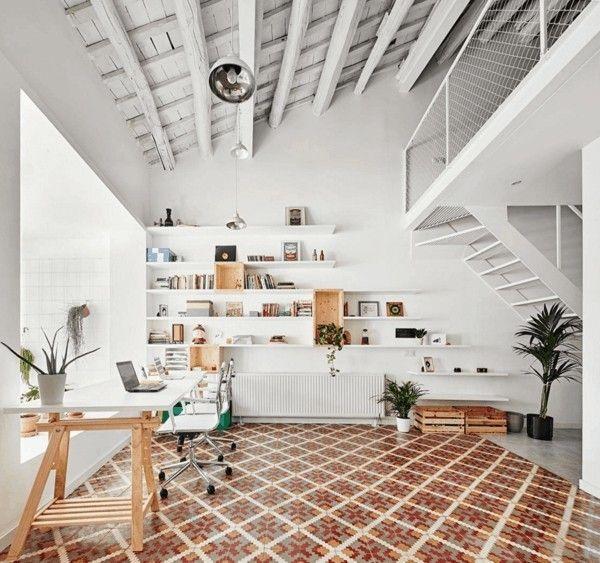 schreibtische-home-office-deko-ideen