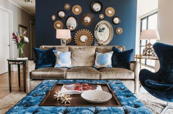 spiegel-mit-metallrahmen-wohnzimmer-deko-ideen