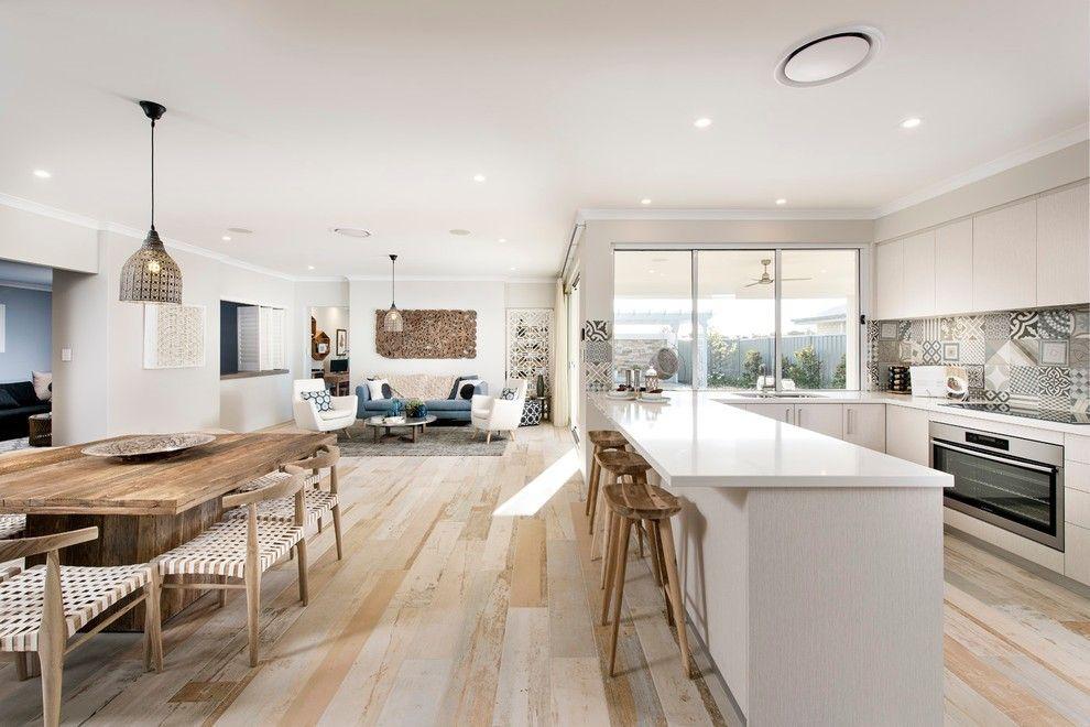 eine offene küche verbindet kochen und essen, wohnen und relax, Hause deko