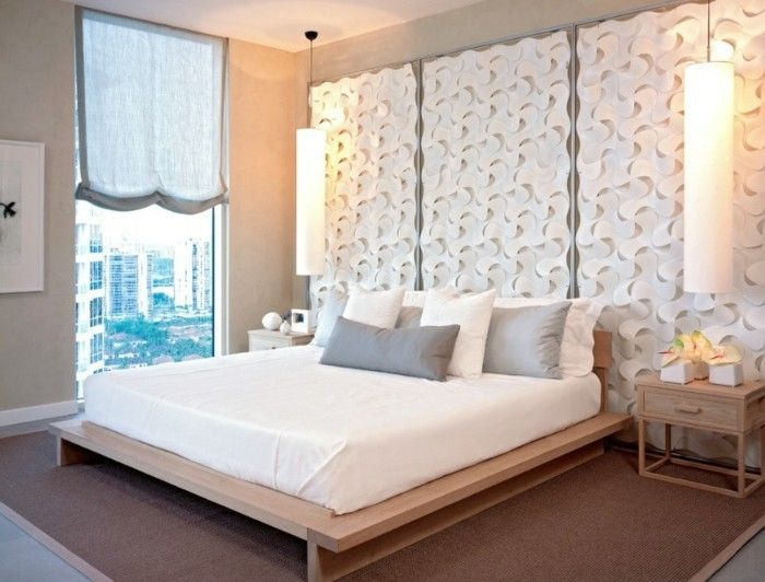 bett kopfteil polster selber machen originelle ideen fr bett kopfteile bzw rckwnde. Black Bedroom Furniture Sets. Home Design Ideas