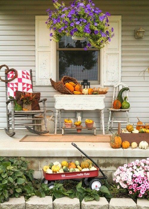 halloween-dekorieren-veranda-kurbisse