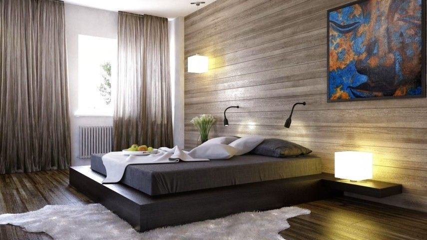 20 inspirierende schlafzimmer mit wandpaneelen aus holz. Black Bedroom Furniture Sets. Home Design Ideas