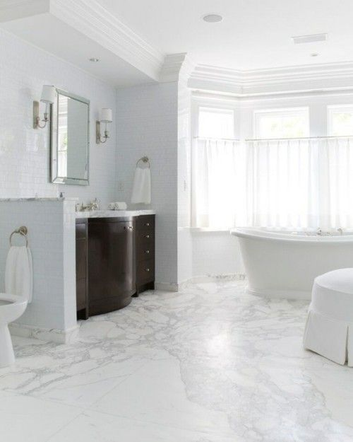 Luxus Badezimmer Marmor Boden
