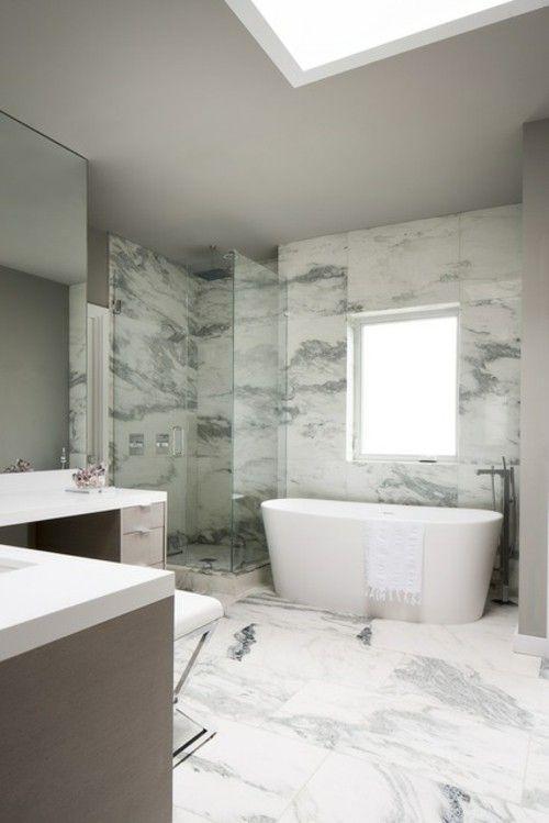 Luxus Badezimmer Marmor Badewanne