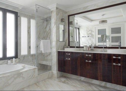Luxus Badezimmer Deko Marmor Spiegel Gros