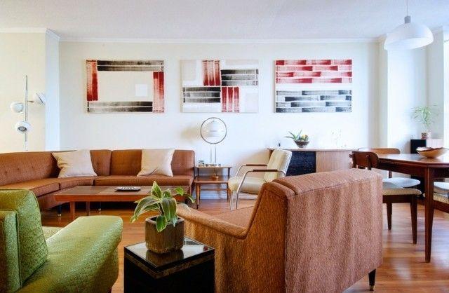 moderner retro stil neutrale farben und grelle