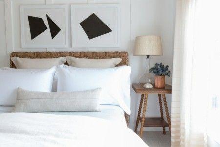Skandinavisches Schlafzimmer Leuchte Schwarze Wanddeko