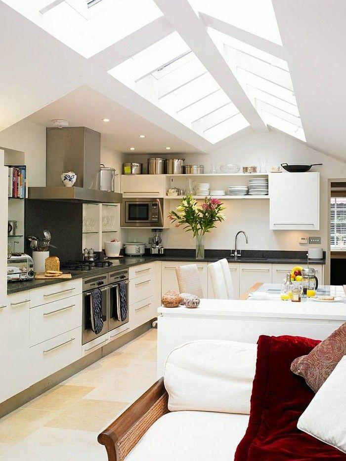 skylight-dachfenster-moderne-kuche-gestalten
