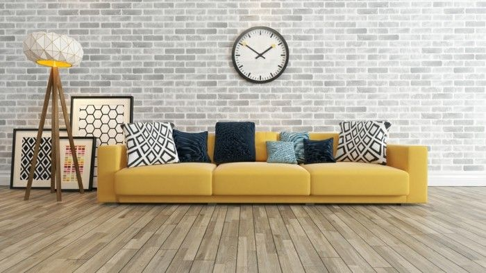 originelles wohnzimmer mit tollen farben