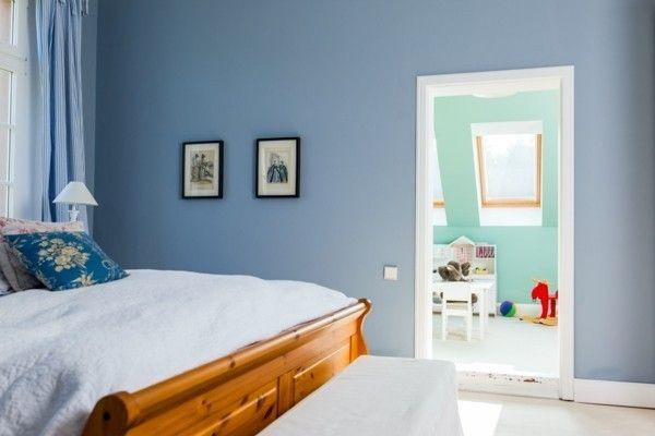 Blaue Wandfarbe Graue Mobel ~ Kreative Bilder Für Zu Hause Design
