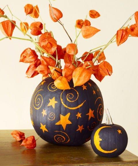Schön geschnitzter Kürbis für Ihre Halloween Dekoration zuhause