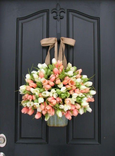 eingangstur-deko-tur-tulpen