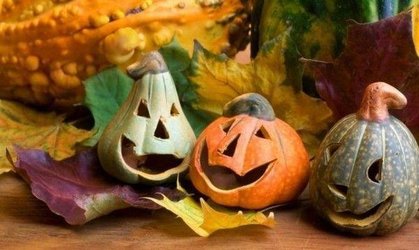halloween-kurbisse-ausgehohlt-und-lustig-geschnitzt