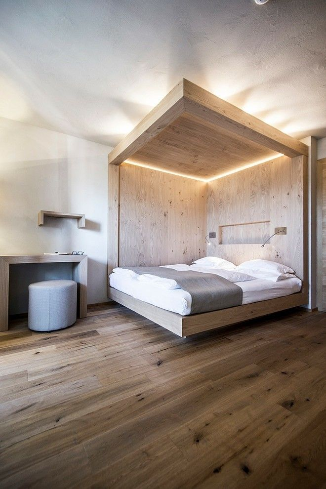 idee-schlafzimmer-holz-wand