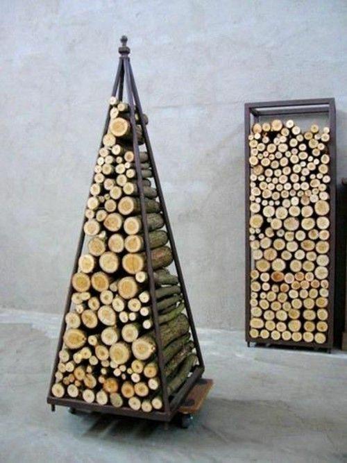 Brennholzregal wohnzimmer design  Brennholzregal – praktisch und funktional, ästhetisch und trendy ...