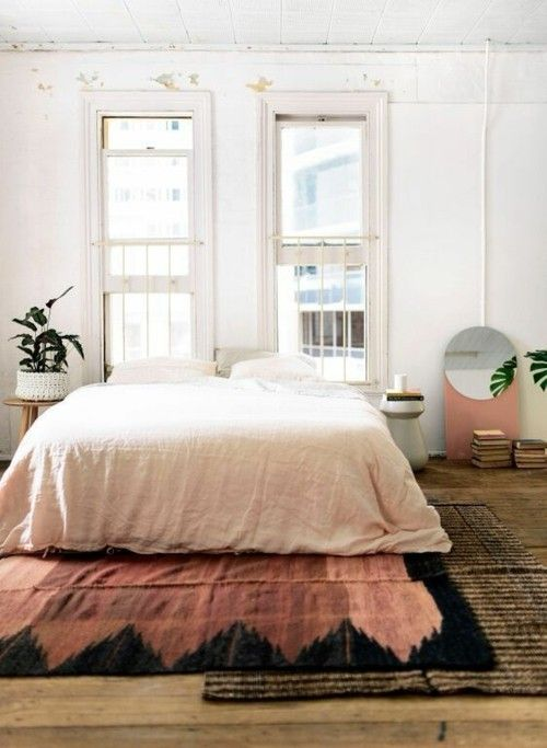 Rustikale Schlafzimmer Teppich Ideen