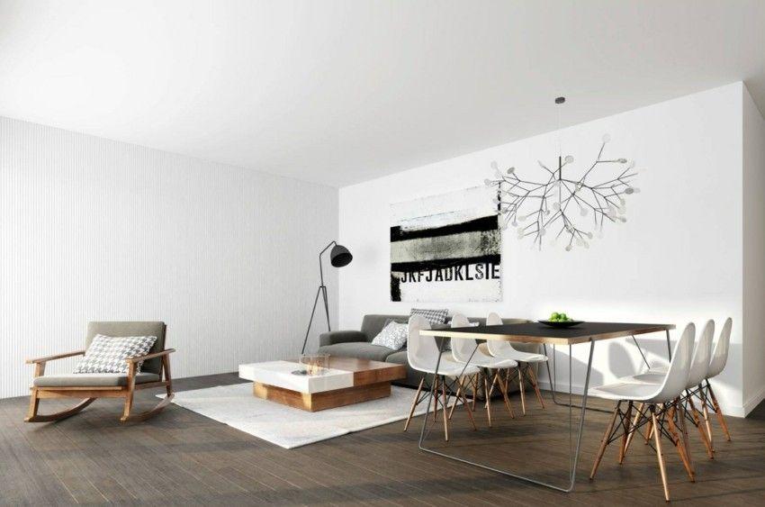 minimalistische wohnzimmer ausgefallene ideen f r ein beeindruckendes modernes haus. Black Bedroom Furniture Sets. Home Design Ideas