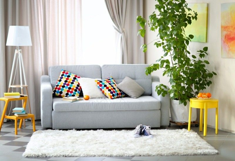 wohnzimmer-mit-couch-lampe-und-zimmerpflanze