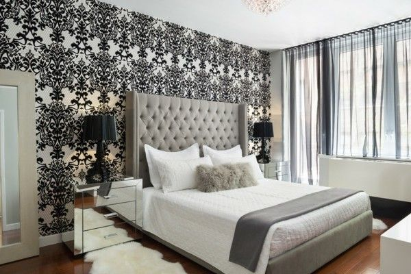 damask-muster-wand-schlafzimmer