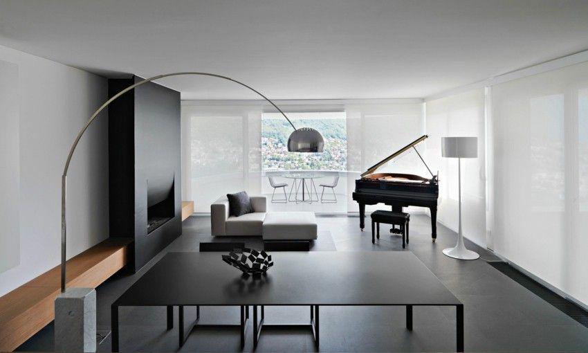 Glaswand Wohnzimmer Minimalistisch Einrichten
