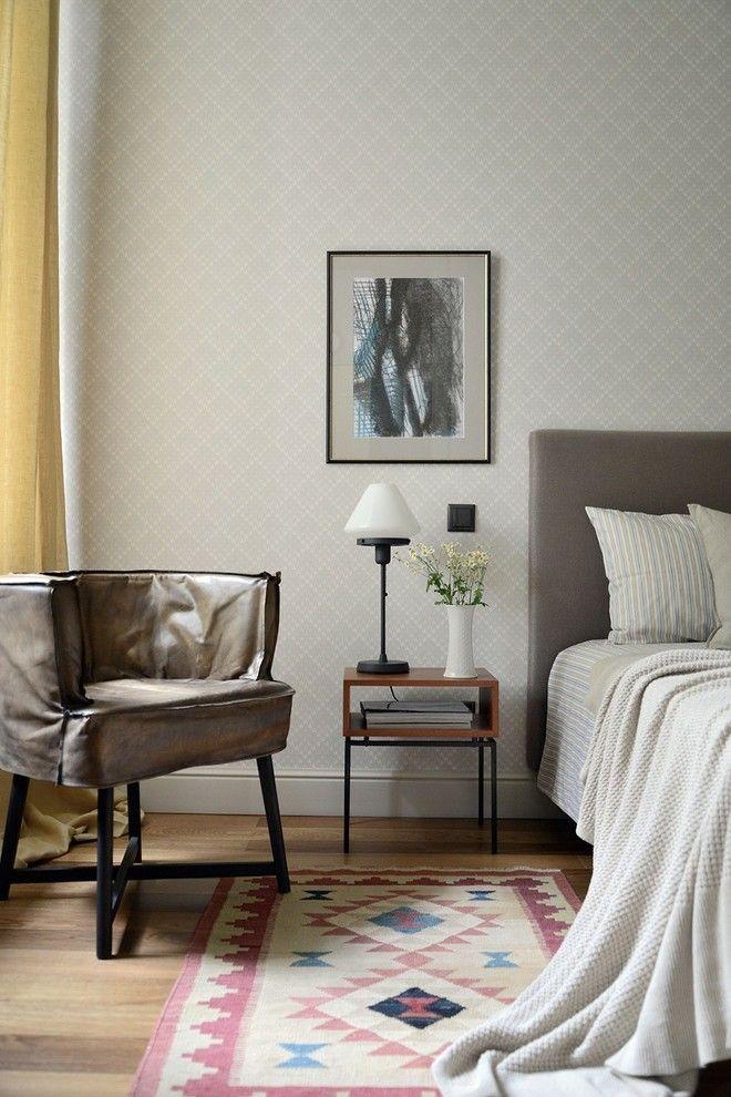 Schlafzimmer Design Ideen Grau Bett