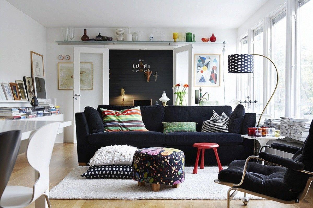 9 Zimmereinrichtungen beweisen, schwarze Möbel sind bezaubernd