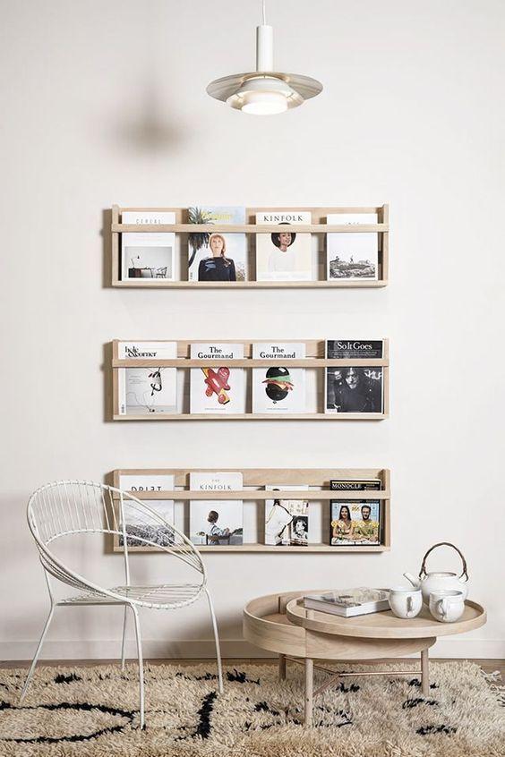Bucherwand Kaffeetisch Modern Holz Deko Ideen