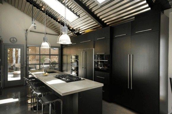 kucheneinrichtung-in-schwarz-moderne-kuchen-bilder