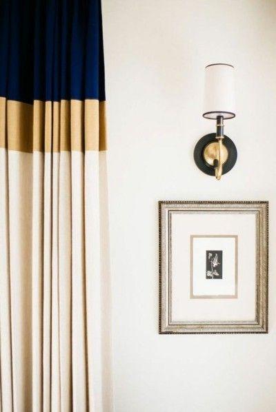 moderne-gardinen-dunkelblau-goldfarben