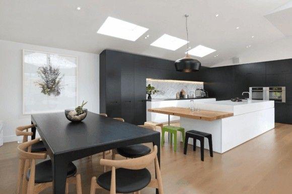 schwarz-weise-kuchen-moderne-kuchen-bilder
