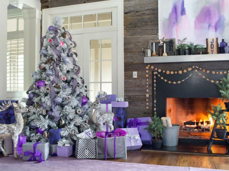 silber-und-lila-weihnachtsbaum